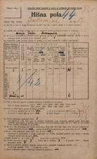 Popis prebivalstva 20. 12. 1921<br />Ljubljana<br />Jenkova ulica 13<br />Population census 20 December 1921