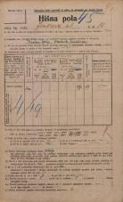 Popis prebivalstva 20. 12. 1921<br />Ljubljana<br />Jenkova ulica 14<br />Population census 20 December 1921