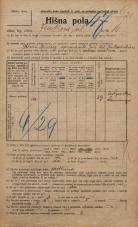 Popis prebivalstva 20. 12. 1921<br />Ljubljana<br />Jenkova ulica 16<br />Population census 20 December 1921