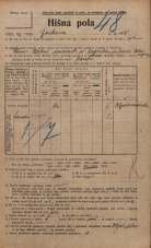 Popis prebivalstva 20. 12. 1921<br />Ljubljana<br />Jenkova ulica 18<br />Population census 20 December 1921