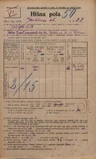 Popis prebivalstva 20. 12. 1921<br />Ljubljana<br />Jenkova ulica 22<br />Population census 20 December 1921