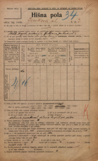 Popis prebivalstva 20. 12. 1921<br />Ljubljana<br />Jenkova ulica 3<br />Population census 20 December 1921