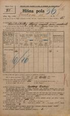 Popis prebivalstva 20. 12. 1921<br />Ljubljana<br />Jenkova ulica 5<br />Population census 20 December 1921