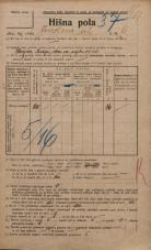 Popis prebivalstva 20. 12. 1921<br />Ljubljana<br />Jenkova ulica 6<br />Population census 20 December 1921