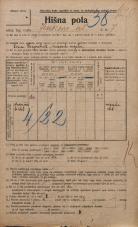 Popis prebivalstva 20. 12. 1921<br />Ljubljana<br />Jenkova ulica 7<br />Population census 20 December 1921