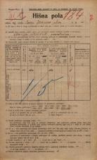 Popis prebivalstva 20. 12. 1921<br />Ljubljana<br />Jeranova ulica NN1<br />Population census 20 December 1921