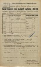 Popis prebivalstva 20. 12. 1921<br />Ljubljana<br />Jeranova ulica NN2<br />Population census 20 December 1921