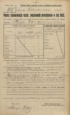 Popis prebivalstva 20. 12. 1921<br />Ljubljana<br />Jurčičev trg - Židovska ulica 7<br />Population census 20 December 1921