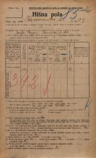 Popis prebivalstva 20. 12. 1921<br />Ljubljana<br />Kamniška ulica 129<br />Population census 20 December 1921