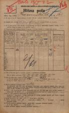 Popis prebivalstva 20. 12. 1921<br />Ljubljana<br />Kamniška ulica 161<br />Population census 20 December 1921