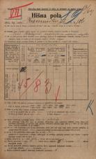 Popis prebivalstva 20. 12. 1921<br />Ljubljana<br />Kamniška ulica 186<br />Population census 20 December 1921