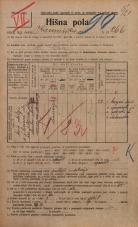 Popis prebivalstva 20. 12. 1921<br />Ljubljana<br />Kamniška ulica 266<br />Population census 20 December 1921