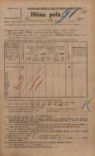 Popis prebivalstva 20. 12. 1921<br />Ljubljana<br />Kamniška ulica 280<br />Population census 20 December 1921