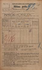 Popis prebivalstva 20. 12. 1921<br />Ljubljana<br />Kamniška ulica 283<br />Population census 20 December 1921