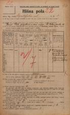 Popis prebivalstva 20. 12. 1921<br />Ljubljana<br />Kapiteljska ulica 3<br />Population census 20 December 1921