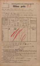 Popis prebivalstva 20. 12. 1921<br />Ljubljana<br />Kapiteljska ulica 5<br />Population census 20 December 1921