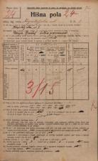 Popis prebivalstva 20. 12. 1921<br />Ljubljana<br />Kapiteljska ulica 7<br />Population census 20 December 1921