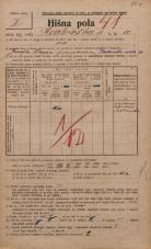 Popis prebivalstva 20. 12. 1921<br />Ljubljana<br />Karlovška cesta 10<br />Population census 20 December 1921
