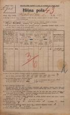 Popis prebivalstva 20. 12. 1921<br />Ljubljana<br />Karlovška cesta 12<br />Population census 20 December 1921