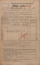 Popis prebivalstva 20. 12. 1921<br />Ljubljana<br />Karlovška cesta 13<br />Population census 20 December 1921