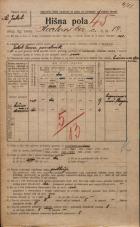 Popis prebivalstva 20. 12. 1921<br />Ljubljana<br />Karlovška cesta 14<br />Population census 20 December 1921