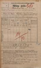 Popis prebivalstva 20. 12. 1921<br />Ljubljana<br />Karlovška cesta 15<br />Population census 20 December 1921