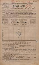 Popis prebivalstva 20. 12. 1921<br />Ljubljana<br />Karlovška cesta 16<br />Population census 20 December 1921