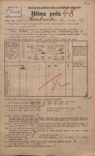 Popis prebivalstva 20. 12. 1921<br />Ljubljana<br />Karlovška cesta 17<br />Population census 20 December 1921