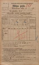Popis prebivalstva 20. 12. 1921<br />Ljubljana<br />Karlovška cesta 19<br />Population census 20 December 1921