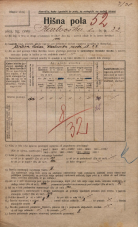 Popis prebivalstva 20. 12. 1921<br />Ljubljana<br />Karlovška cesta 22<br />Population census 20 December 1921