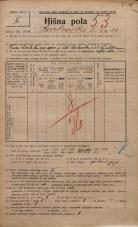 Popis prebivalstva 20. 12. 1921<br />Ljubljana<br />Karlovška cesta 24<br />Population census 20 December 1921