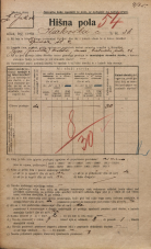 Popis prebivalstva 20. 12. 1921<br />Ljubljana<br />Karlovška cesta 26<br />Population census 20 December 1921