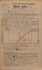 Popis prebivalstva 20. 12. 1921<br />Ljubljana<br />Karlovška cesta 28<br />Population census 20 December 1921