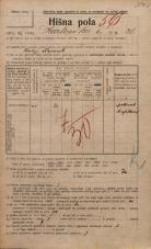 Popis prebivalstva 20. 12. 1921<br />Ljubljana<br />Karlovška cesta 30<br />Population census 20 December 1921
