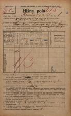 Popis prebivalstva 20. 12. 1921<br />Ljubljana<br />Karunova ulica 1<br />Population census 20 December 1921