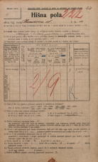 Popis prebivalstva 20. 12. 1921<br />Ljubljana<br />Karunova ulica 10<br />Population census 20 December 1921