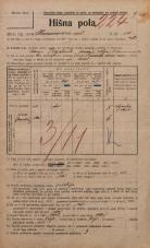 Popis prebivalstva 20. 12. 1921<br />Ljubljana<br />Karunova ulica 14<br />Population census 20 December 1921
