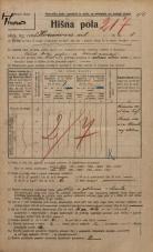 Popis prebivalstva 20. 12. 1921<br />Ljubljana<br />Karunova ulica 4<br />Population census 20 December 1921