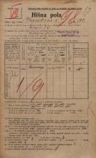 Popis prebivalstva 20. 12. 1921<br />Ljubljana<br />Kavškova cesta 102<br />Population census 20 December 1921