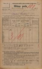 Popis prebivalstva 20. 12. 1921<br />Ljubljana<br />Kavškova cesta 109<br />Population census 20 December 1921