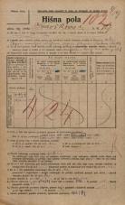 Popis prebivalstva 20. 12. 1921<br />Ljubljana<br />Kavškova cesta 127<br />Population census 20 December 1921