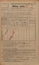 Popis prebivalstva 20. 12. 1921<br />Ljubljana<br />Kavškova cesta 128<br />Population census 20 December 1921