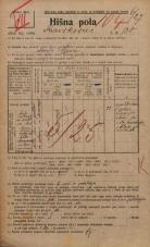 Popis prebivalstva 20. 12. 1921<br />Ljubljana<br />Kavškova cesta 130<br />Population census 20 December 1921