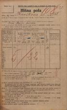 Popis prebivalstva 20. 12. 1921<br />Ljubljana<br />Kavškova cesta 158<br />Population census 20 December 1921