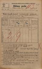 Popis prebivalstva 20. 12. 1921<br />Ljubljana<br />Kavškova cesta 250<br />Population census 20 December 1921