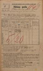 Popis prebivalstva 20. 12. 1921<br />Ljubljana<br />Kavškova cesta 255<br />Population census 20 December 1921