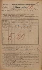 Popis prebivalstva 20. 12. 1921<br />Ljubljana<br />Kavškova cesta 264<br />Population census 20 December 1921
