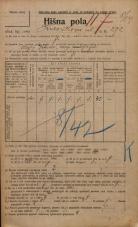 Popis prebivalstva 20. 12. 1921<br />Ljubljana<br />Kavškova cesta 272<br />Population census 20 December 1921