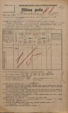 Popis prebivalstva 20. 12. 1921<br />Ljubljana<br />Kavškova cesta 287<br />Population census 20 December 1921