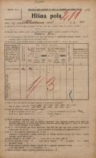 Popis prebivalstva 20. 12. 1921<br />Ljubljana<br />Kladezna ulica 20<br />Population census 20 December 1921